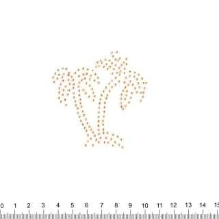аппликация 2 пальмы золотые, мет.стразы,7х8см оптом