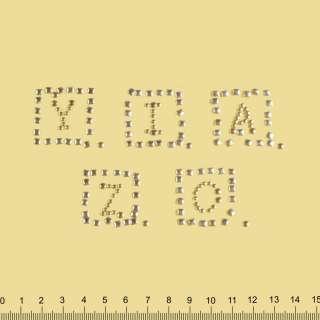 Аппликация YZICA золотистая, мет.стразы, 5х19см оптом