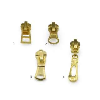 Бегунок на металлическую молнию №5 золото оптом