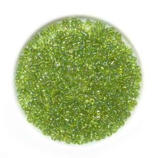 Бісер зелено-жовтий асорті оптом