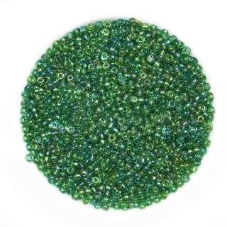 бисер зелено-желтый ассорти оптом
