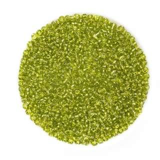 Бісер зелений з жовтим відтінком оптом