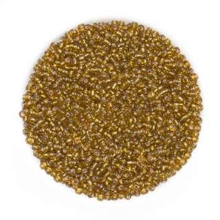 Бисер золотисто-коричневый оптом