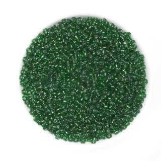 Бісер зелений з чорним відтінком оптом