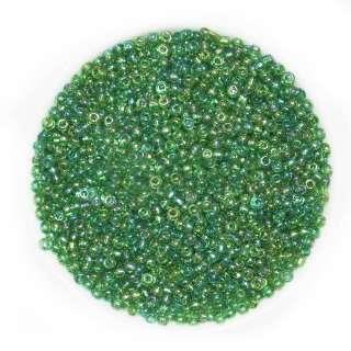 Бісер зелений хамелеон оптом