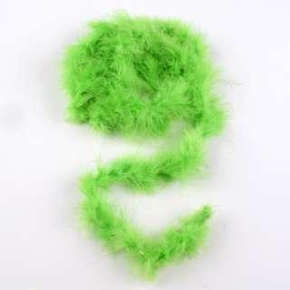 Боа из лебяжьего пуха зеленое, длина 1,8м оптом