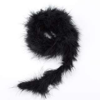 Боа из лебяжьего пуха черное, длина 1,8м оптом
