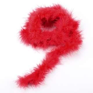 Боа из лебяжьего пуха красное, длина 1,8м оптом
