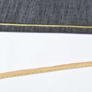 Кант встрочной золотистый на желтой основе, ш.10 мм оптом