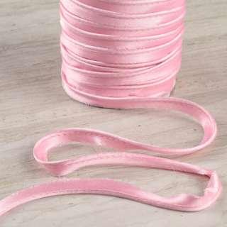 Кант атласний 11мм рожевий оптом