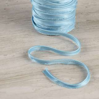 Кант атласний 11мм блакитний оптом