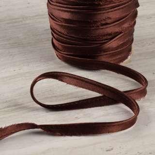 Кант атласний 11мм коричневий оптом