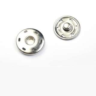 кнопка металлическая хром 30мм оптом