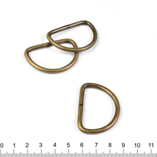 полукольцо металлическое антик 40 мм оптом