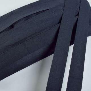 косая бейка стрейч синяя темная 20 мм оптом