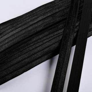 косая бейка стрейч черная 15 мм оптом