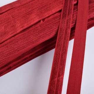 косая бейка стрейч темно-красная 15 мм оптом