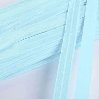 Коса бейка стрейч 15 мм блакитна оптом