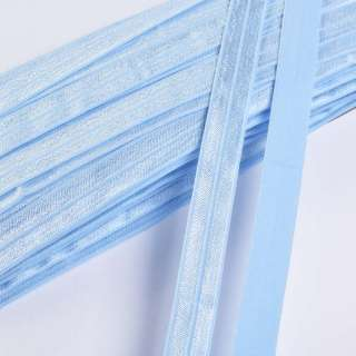 Коса бейка стрейч 15 мм блакитна небесна оптом