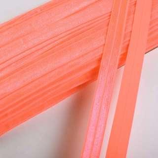 Коса бейка стрейч 15 мм помаранчева неон оптом