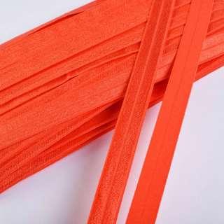 Коса бейка стрейч 15 мм помаранчева темна оптом