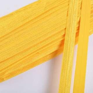 Коса бейка стрейч 15 мм жовта оптом