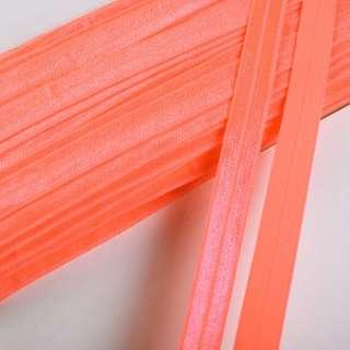 Коса бейка стрейч 15 мм помаранчева яскрава оптом