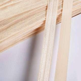 Коса бейка стрейч 15 мм кремово-золотава оптом