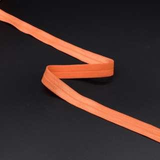 Коса бейка стрейч 15 мм помаранчева оптом