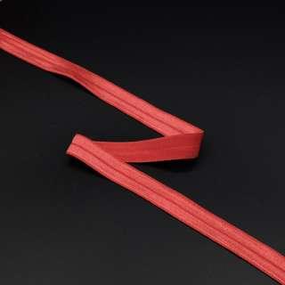 Косая бейка стрейч 15 мм красная оптом