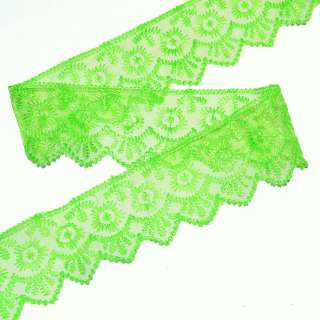 кружево зеленое п/э 5,0см оптом
