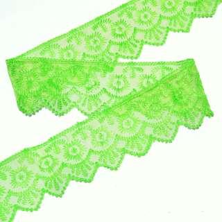 Кружево капрон 50мм зеленое оптом