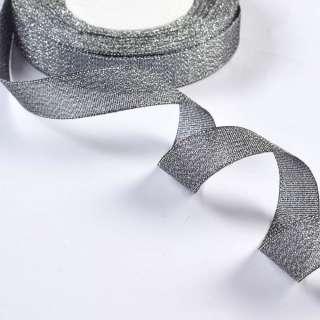 Лента отделочная с люрексом 18мм серебро оптом