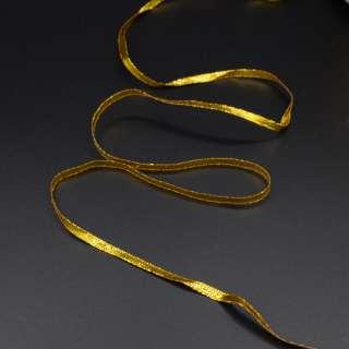 Тесьма отделочная метанить 4 мм золото, серебро оптом