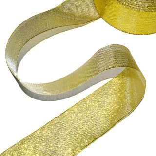Лента отделочная с люрексом 40мм золото оптом