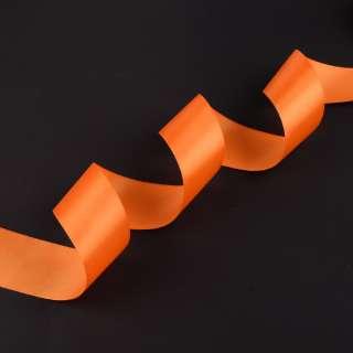 лента атласная 5см оранжевая оптом