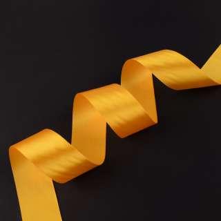 лента атласная 5см желтая оптом