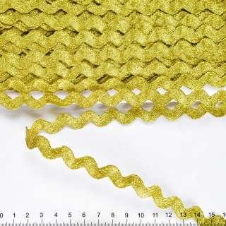 Тесьма вьюнок 15мм темное золото оптом