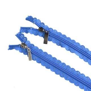 молния ажурная спиральная М-20 №7 синяя оптом