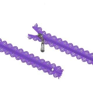 молния ажурная спиральная М-20 №4 фиолетовая оптом