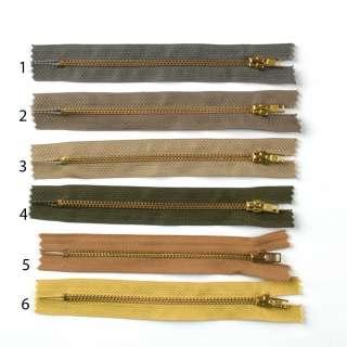 Молния металл (золото) М-14 Тип-3 неразъемная х/б в ассортименте оптом
