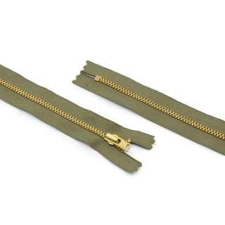 Молния металл М-17,5 Тип-3 неразъемная х/б в ассортименте оптом