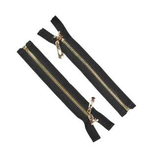 молния металл М-19 разъемная тип-7 черная золото оптом