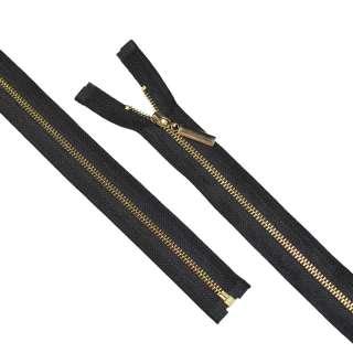 молния металл М-70 разъемная тип 5 черная золото оптом