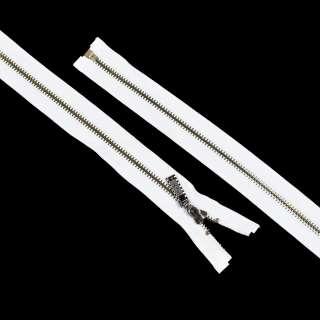 молния металл М-70 разъемная тип-7 белая оптом