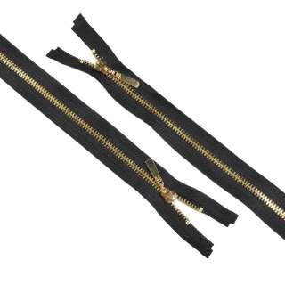 молния металл М-75 разъемная Тип 5 черная золото оптом