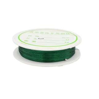 Дріт біжутерний 0,3мм / 100м зелений оптом