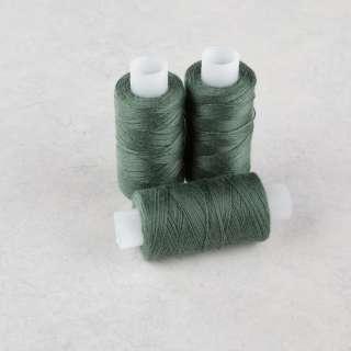 Нитки для джинсов 20/3 Омега-36 (150м) цвет 411 зеленые хвойные оптом
