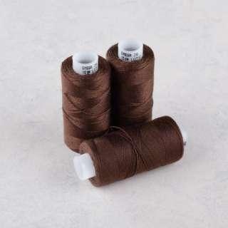 Нитки для джинсов 20/3 Омега-36 (150м) цвет 1444 коричневые темные оптом