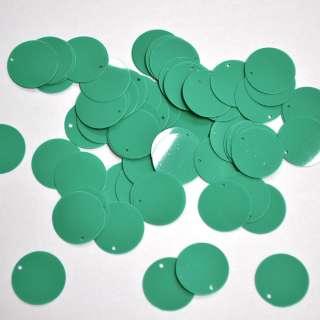 Пайетка матовая круглая 25мм 25 г зеленая оптом